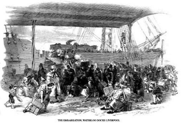 The Embarkation, Waterloo Docks, Liverpool